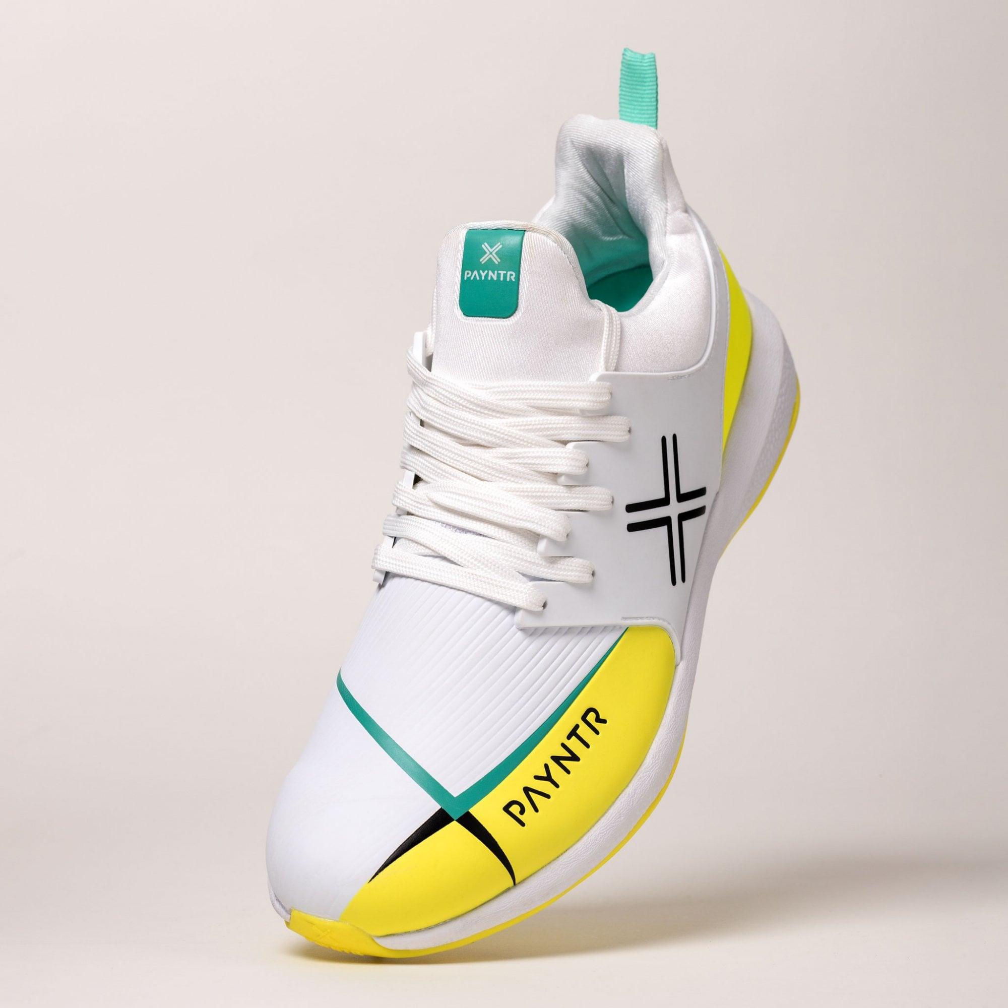 PAYNTR EVO Pimple Cricket Shoes Black /& Yellow